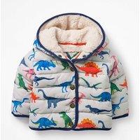 Babysaurus Padded Coat Multi Baby Boden, Grey