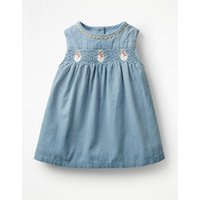Festive Party Dress Blue Baby Boden, Blue