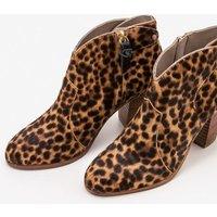 Hoxton Ankle Boots Brown Women Boden, Leopard
