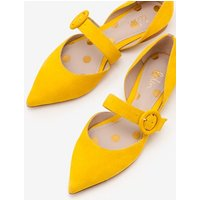 Evie Pointed Flats Yellow Women Boden, Yellow
