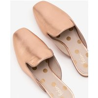 Poppy Backless Loafers Metallic Women Boden, Gold pink