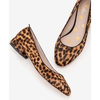 Amelie Low Heel Ballerinas Brown Women Boden, Leopard