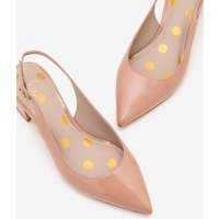 Annie Pointed Slingbacks Natural Women Boden, Pink