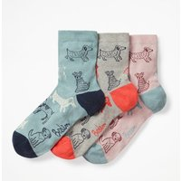 Boden Three Pack Ankle Socks Blue Women Boden, Blue