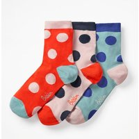 Boden Three Pack Ankle Socks Orange Women Boden, Orange