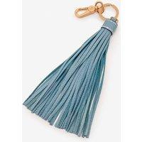 Leather Tassel Keyring Blue Women Boden, Blue