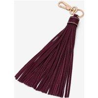 Leather Tassel Keyring Purple Women Boden, Burgundy