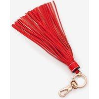 Leather Tassel Keyring Red Women Boden, Navy