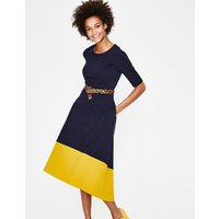 Wren Ponte Midi Dress Navy Women Boden, Navy