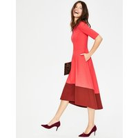 Wren Ponte Midi Dress Red Women Boden, Pink