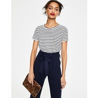 Supersoft Easy Tee Ivory Women Boden, Navy