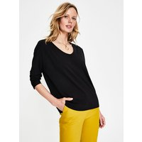 Boden Supersoft Voop Tee Black Women Boden, Black