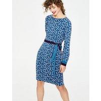 Fawn Jersey Dress Blue Women Boden, Blue