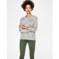 Arabella Sweatshirt Navy Women Boden, Grey