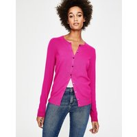 Cashmere Crew Cardigan Pink Women Boden, Multicouloured