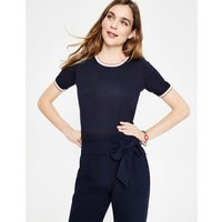 Favourite Knitted Top Navy Women Boden, Navy