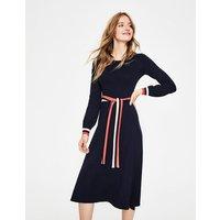 Eden Knitted Dress Navy Women Boden, Navy