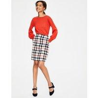 British Tweed Mini Skirt Pink Women Boden, Pink