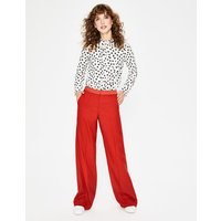 Boden Marlin Wide Leg Trousers Red Women Boden, Red