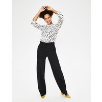 Boden Hampshire Ponte Trousers Black Women Boden, Black