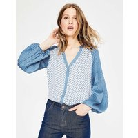 Harriet Blouse Blue Women Boden, Blue