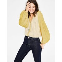 Harriet Blouse Yellow Women Boden, Yellow