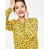Sadie Silk Top Yellow Women Boden, Yellow