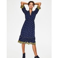 Boden Bronwen Broderie Dress Navy Women Boden, Navy