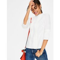 Lace Pintuck top Ivory Women Boden, Ivory