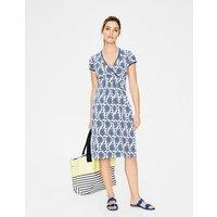 Casual Jersey Dress Blue Women Boden, Blue
