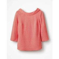 Boden Sarah Ponte Top Red Women Boden, Red