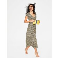 Lily Jersey Dress Yellow Women Boden, Yellow
