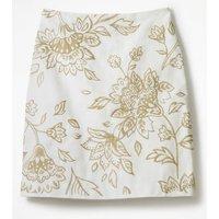 Fun Embroidered Skirt White Women Boden, White