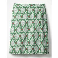Printed Cotton A-line Skirt Green Women Boden, Green