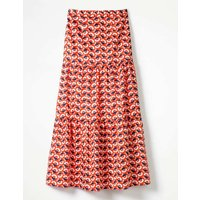 Thea Maxi Skirt Red Women Boden, Red