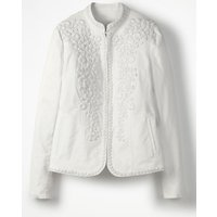 Julianna Embroidered Jacket White Women Boden, White