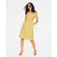 Sierra Textured Dress Yellow Women Boden, Yellow