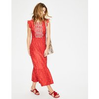 Lucinda Broderie Dress Red Women Boden, Red