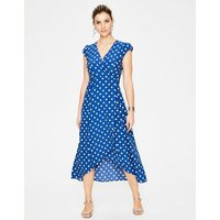Antonia Wrap Dress Blue Women Boden, Blue