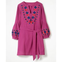 Odetta Embroidered Kaftan Purple Women Boden, Purple