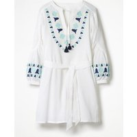 Odetta Embroidered Kaftan White Women Boden, White