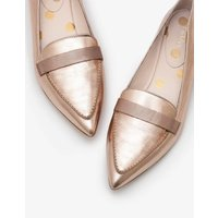 Abbie Loafers Metallic Women Boden, Gold Pink