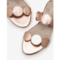 Boden Briana Slides Metallic Women Boden, Metallic