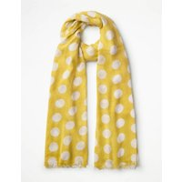 Boden Printed Scarf Yellow Women Boden, Yellow