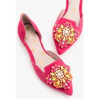 Leah Jewelled Flats Pink Women Boden, Pink