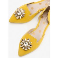 Leah Jewelled Flats Yellow Women Boden, Yellow