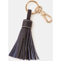Boden Leather Tassel Keyring Navy Women Boden, Navy