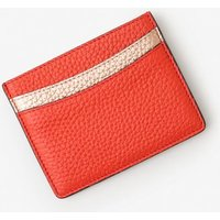 Leather Card Holder Red Women Boden, Red