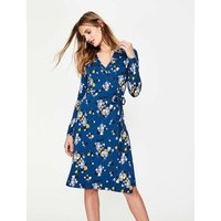Wrap Jersey Dress Blue Women Boden, Blue