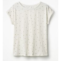 Natalie Jersey Tee Ivory Women Boden, Ivory